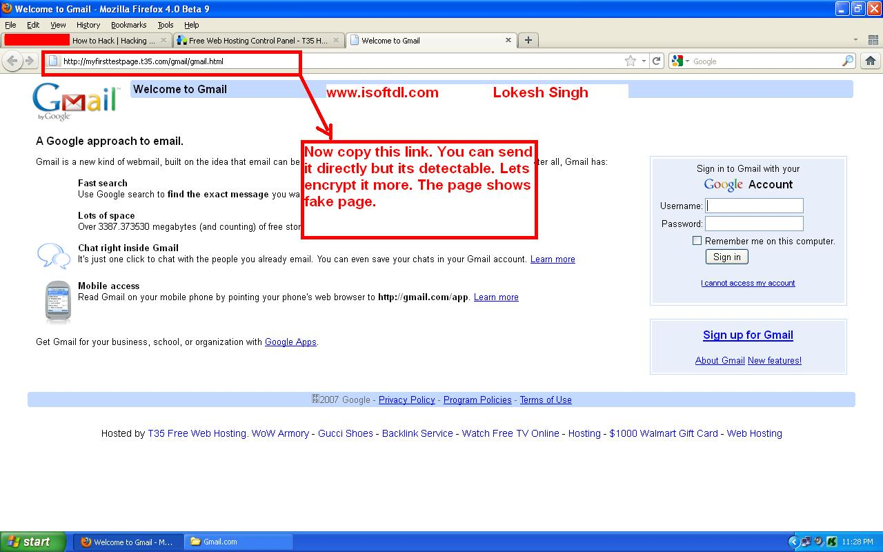 Fake gmail  How to report a fake Gmail account which is being used